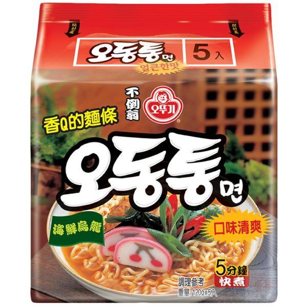 韓國不倒翁海鮮風味烏龍拉麵