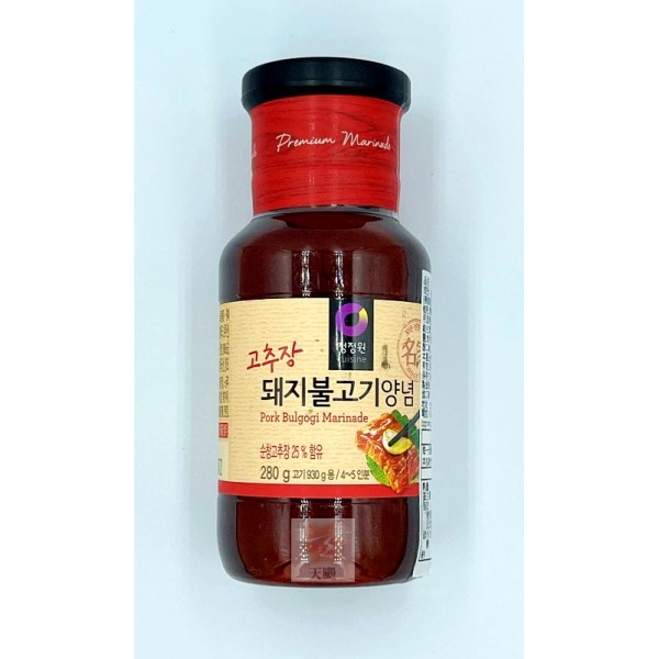 清淨園大象韓式醃烤調味醬(辣味)-280公克